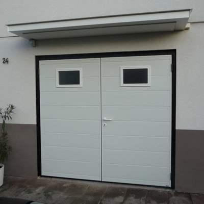 Porte de garage for Porte de garage 2 vantaux alu
