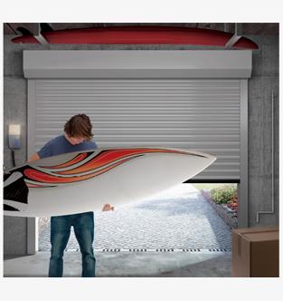 Porte de garage enroulable for Volet de garage enroulable