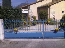 Portail acier 2 vantaux peint
