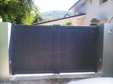 Pose d'un portail aluminium à Bresson