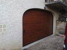Porte de garage sectionnelle chêne doré à Jarie